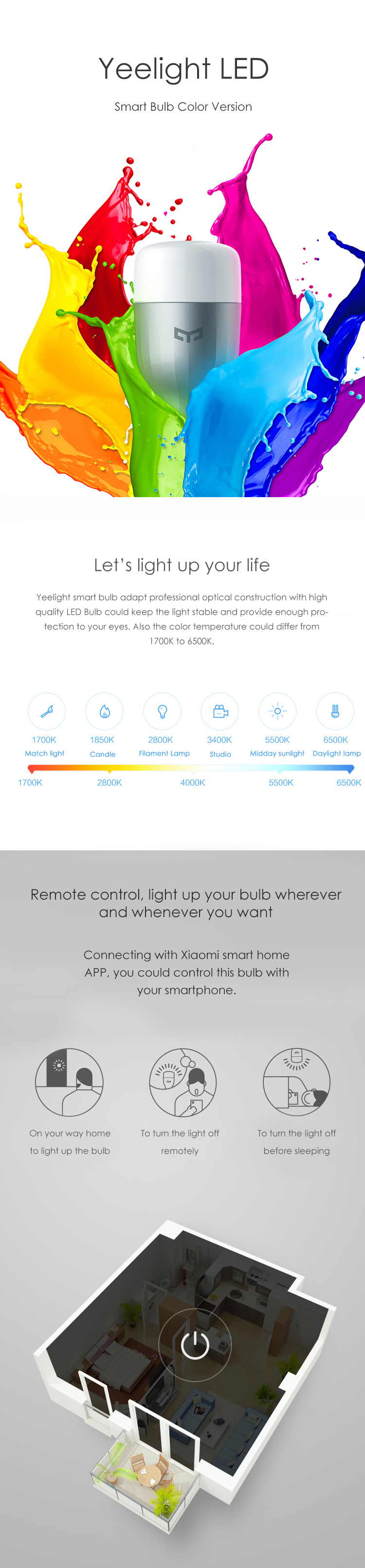 Xiaomi Color Changing Smart Bulb
