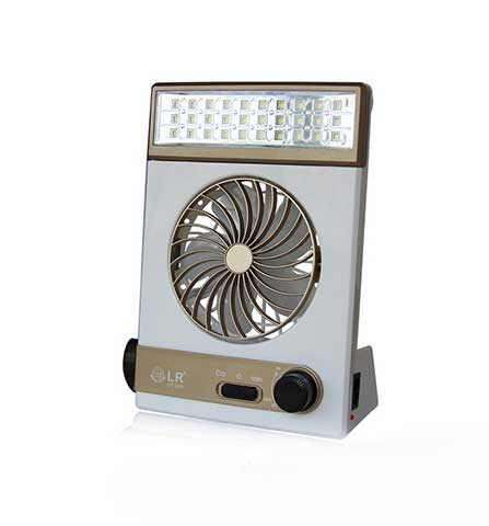 Mini Solar Rechargeable Fan with LED