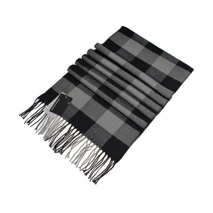 Men's Plaid Woolen Scarf