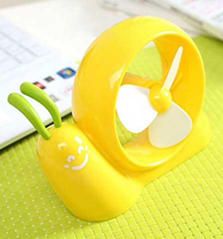 Cartoon Snail-style Fan Dual Use Of USB And Battery