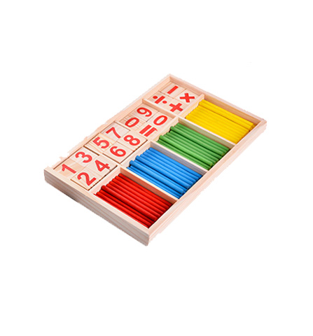 Wooden Number Blocks And Counter Rods Pack