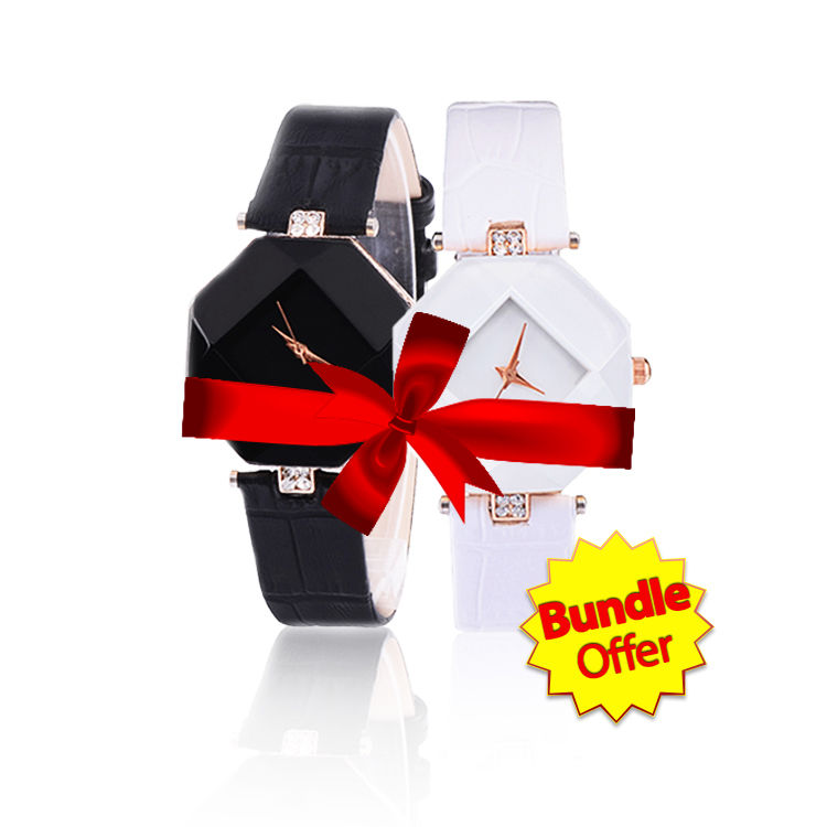 Chic Rhombus Watch Bundle of Two