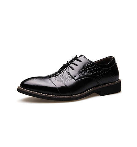 Spring Style Crocodile Grain Sharp Toe Men Business Leather Shoes
