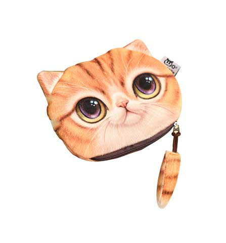 3d Cute Printed Cat Purse