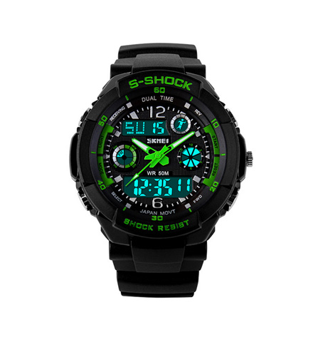 Skmei Fashionable Men's Dual Display Waterproof Electronic Sports Watch