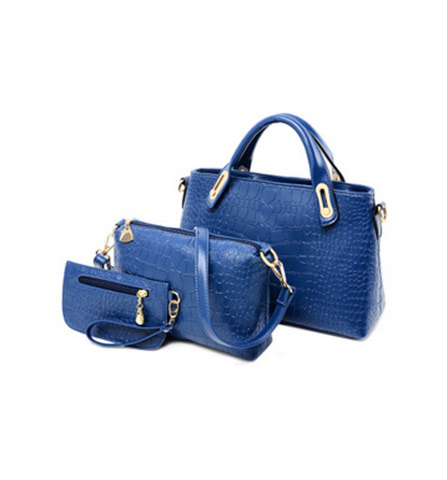 Crocodile Pattern Leather Handbags 3 In 1
