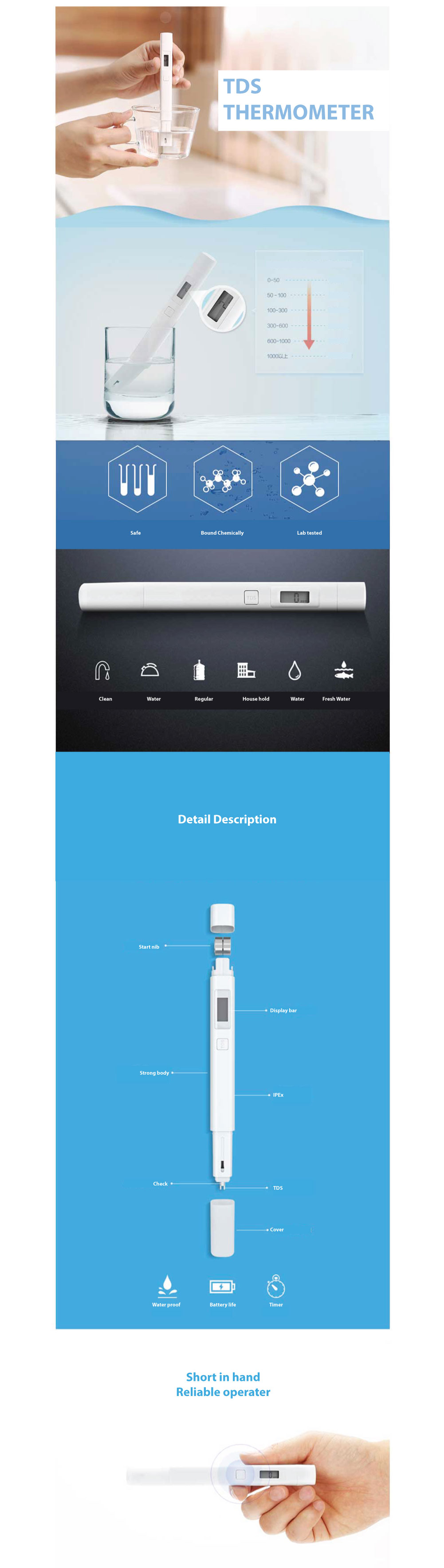 Xiaomi TDS Pen-shaped Water Detector in Pakistan